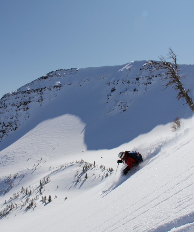 Skiing in the Wallowa Mountains, OR. Photo courtesy of a generous ski buddy.