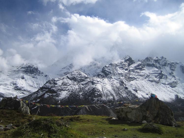 A herding camp at 16,000 feet near the base of Mt. Everest, on the Tibetan side. (Credit: Julia Rosen)