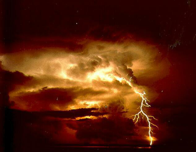 Lightning strikes may play an important role in eroding mountain tops. (Credit: NOAA)