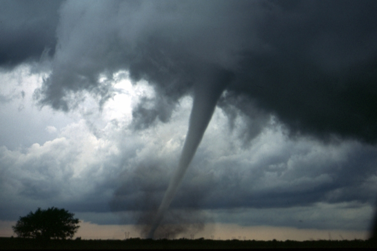 Smoke may intensify tornado outbreaks, according to a new study. (Credit: NOAA)