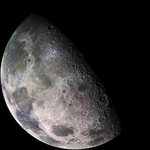 Moon bouncing entails bouncing radio waves off the moon's surface, instead of the upper atmosphere. (Credit: NASA)