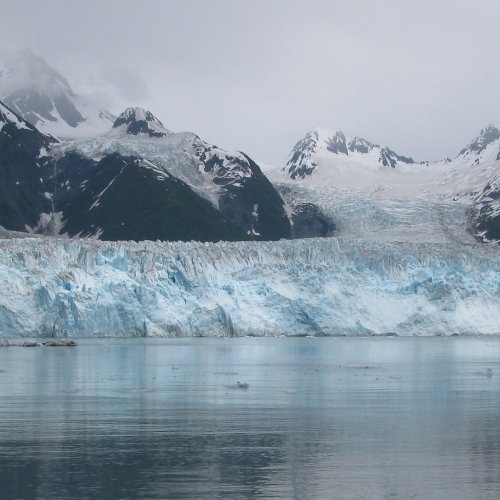 Among the subjects Pettit studies is the interaction of seawater and ice at tidewater glaciers like Alaska's Meares Glacier. (Credit: Eric Chase via Wikimedia)